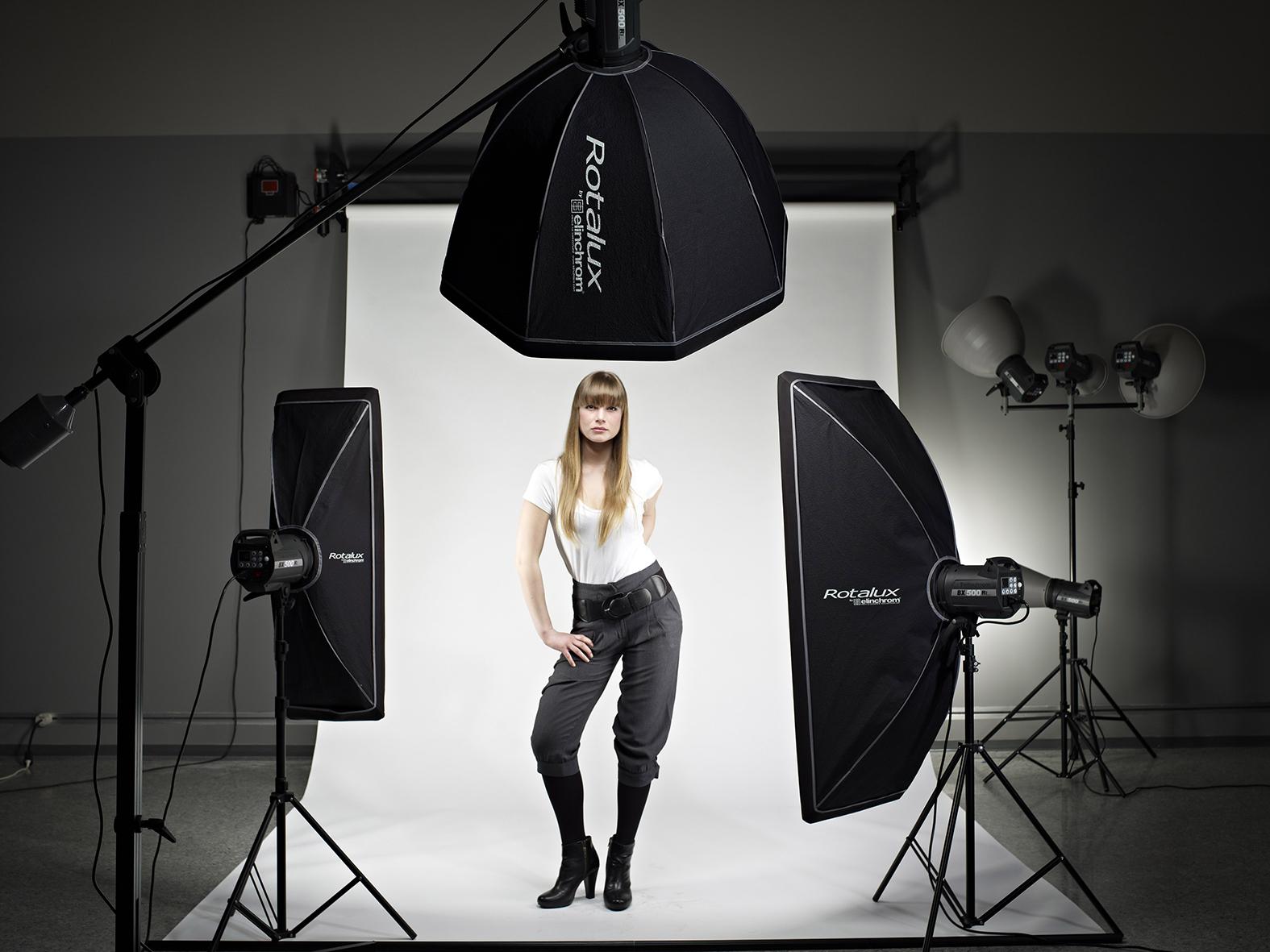 Allestire un set fotografico per ritratto workshop di fotografia